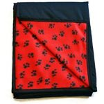 Waterproof dog throw for incontinent dog